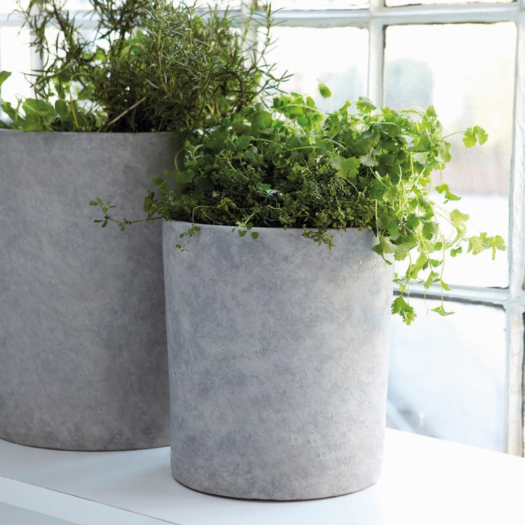 blumentopf - grau - beton - 2er set - house doctor kaufen